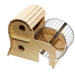 Домик для грызунов с колесом 26*15*h21 см.