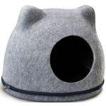 Домик из войлока «Кошкин дом», серый, 34*43*34 см (TB54)