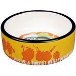 Миска керамическая Shaun the Sheep, 0.3 л х ф 12 см, оранжевая (25040)
