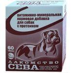СЕВАвит поливитаминное лакомство для собак с протеином 60табл