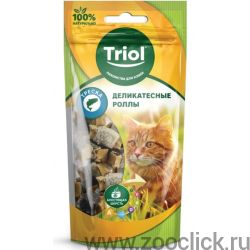 Деликатесные роллы из трески для кошек (PT36)