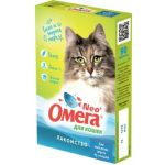 """Омега Neo +  Мультивитаминное лакомство для кошек """"Вывод шерсти"""" с ржаным солодом, 90 таб."""
