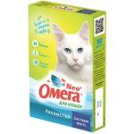 """Омега Neo +  Мультивитаминное лакомство для кошек """"Блестящая шерсть"""" с биотином и таурином, 90 таб."""