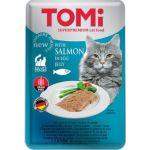 Консервы для кошек-пауч GF c лососем в яичном желе