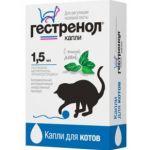 Гестренол Капли для котов для регуляции половой охоты 1,5мл