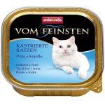 Консервы для кастрированных кошек с индейкой и форелью (Vom Feinsten Castrated cat)