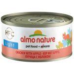 Низкокалорийные консервы для кошек с курицей и яблоком (HFC ALMO NATURE LIGHT CATS CHICKEN AND APPLE)