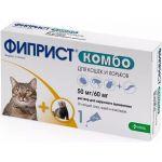 Фиприст Комбо капли от блох и клещей для кошек и хорьков, 1 пипетка