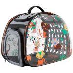 Складная сумка-переноска для собак и кошек до 6 кг прозрачная дизайн Cats&Dogs 46*32*30 см