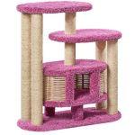 Домик когтеточка для кошек ковролиновый «Маруська» 100*42*100 см
