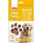 Лакомство для собак Happy Snack Нежные сердечки из курицы и трески