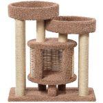 Домик когтеточка для кошек ковролиновый «Понго» 92*52*100 см