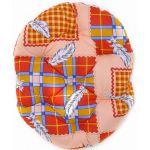 Перина овальная 70*52*9см хлопок разноцветный, синтепух
