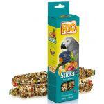 Палочки для крупных попугаев с фруктами и ягодами  2*75 г