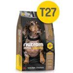 Беззерновой корм для щенков и собак мелких пород с индейкой, курицей и уткой T27 Nutram GF SB TurkeyChicken&Duck Dog Food