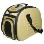Складная сумка-переноска для собак и кошек до 6 кг бежевая 46*32*30 см
