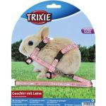 Шлейка с поводком для крольчат , нейлон с рисунком (6265)