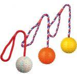 Игрушка Мяч на веревке, 30 см, Ф 7 см (3308)