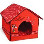 Домик Minnie  50x40x40см  красный/горох (складывается) WD3014