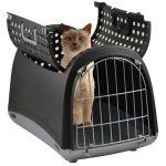 """Переноска для животных """"Linus Cabrio"""" 50*32*34,5 см коричневая + дверца сверху (80591)"""