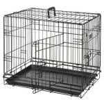 Клетка  для собак черная, 2 двери 63*43*49 см