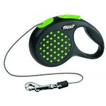 Рулетка-трос для животных до 8кг, 3м, зеленая (Design XS Cord 3 m, green)