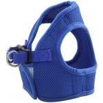 Комплект: поводок и шлейка-жилетка, обхват груди 30 см, синий  (HL02XS)