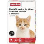 Beaphar ошейник для котят от блох и клещей (диазинон) 35 см