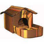 Домик с площадкой, подушки, съемная крыша, шоколадный, поплин