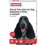 Красный ошейник DIAZ от блох и клещей для собак, 65см