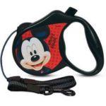 Поводок-Рулетка Mickey  S  3м до 12 кг (трос) чёрный (WD1001)