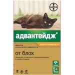 Адвантейж капли для кошек до 4 кг от блох, 4 пипетки