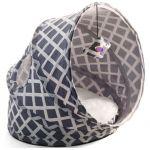 Лежанка-туннель для кошек, серая,, 43*38*35 см (CT50)