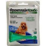 Комбо для собак 10-20 кг от блох, клещей и яиц, 1 пипетка, Combo M