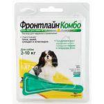 Комбо для собак 2-10 кг от блох, клещей и яиц, 1 пипетка, Combo S