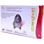 Стронгхолд капли от блох, ушных и чесоточных клещей, гельминтов для собак 10-20 кг, 3 пипетки (красные)