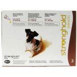 Стронгхолд капли от блох, ушных и чесоточных клещей, гельминтов для собак 5-10 кг, 3 пипетки (коричневые)