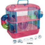 Клетка для грызунов с переходами 2-этажа 40*26*40см (31002А)
