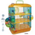 Клетка для грызунов с переходами 3-этажа 40*26*53 см (31003А)