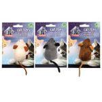 Игрушка мышь  с кошачьей мятой 7*5*3,5 см