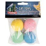 Игрушка для кошек Мяч поролоновый 4 см  4 шт.