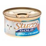 Stuzzy Gold консервы для кошек (кусочки тунца с кальмарами в собственном соку)