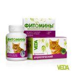 VEDA Фитомины урологические для кошек. Профилактика мочекаменной болезни у кошек 100 таб.