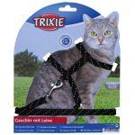 Шлейка с поводком для кошек, с отражателем 18-35см/10мм, 1,3м (4183)