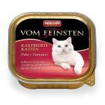 Консервы для кастрированных кошек с индейкой и томатами (Vom Feinsten for castrated cats)