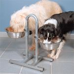 Стойка с 2мя мисками по 2,8л для двух собак - 2497