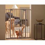 Перегородка-дверь для собак с дверцей для кошек DOG BARRIER 75*84*107см  S3214