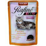 Паучи для котят с индейкой, сердцем и морковью (Rafine Soupe Kitten)