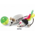 Набор игрушек для кошек (мяч и 2 мышки)