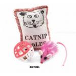 Набор игрушек для кошек (мяч, мышка, подушечка)